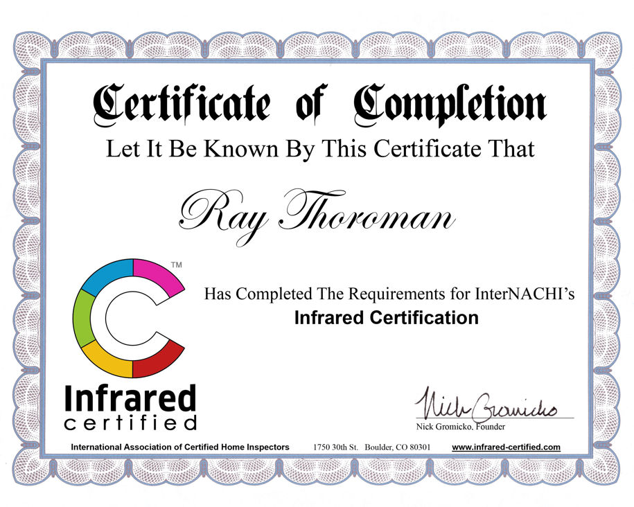 Macon GA Infrared Certified Building Inspector